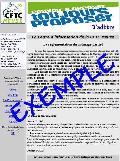 Super S'inscrire a la newsletter de la CFTC Meuse HN69
